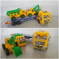 Mainan Mobil Truk Trailer - Mobil Truck Trailer Angkut Mobil