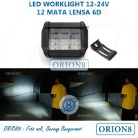 Lampu Cree 12 Mata Lensa 6D Cut Off Sorot Tembak Waterproof