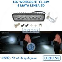 Versi Ekonomis, Lampu Tembak Sorot Motor LED Bar Cree 6 Mata CWL