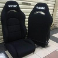 jok racing bride bahan kain hitam polos+real