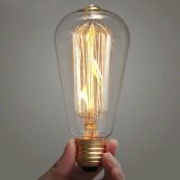 Lampu Pijar Vintage Model Bohlam Edison - 60W - Warm White