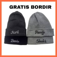 Topi kupluk anak bayi GRATIS BORDIR custom nama bahan spandex