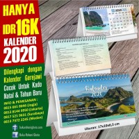 Kalender Meja Mini Tahun 2020, Terlaris