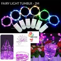 Mini LED 20 led - 2M– Fairy Light Tumblr Lampu Waterproof Baterai