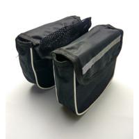 SP4 Tas 2 in 1 Sepeda Frame Kantong Simple Kanvas Jaring Import Impot
