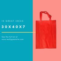 Goodiebag Spunbond Lipat Samping Tas 30x40x7cm Merah