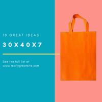 Per 12pc Tas 30x40x7cm Goodiebag Spunbond Lipat Samping Orange