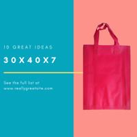 Per 12pc Tas 30x40x7cm Goodiebag Spunbond Lipat Samping Pink fanta