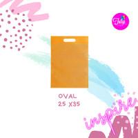 Tas Spunbond Oval Kuning Polos Tas Goodiebag 25x35
