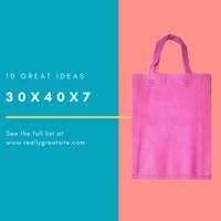 Goodiebag Spunbond Lipat Samping Tas 30x40x7cm Pink