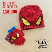 Topi & Sarung Tangan Anak Spiderman
