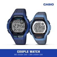 Casio Jam Tangan Couple WS-2000H-2AVDF LWS-2000H-2AVDF Original