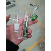 Glass water bottle filter tube fittings, glass hookah pipe, handmade