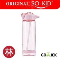 SO-KID H640 700ml Leak-Proof Water Bottle with Straw Drinkware Pink