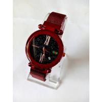 Jam tangan Wanita Rantai Magnet Glitter Pasir GC02 Tanggal Aktif Murah