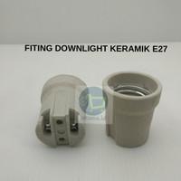 FITTING DOWNLIGHT KERAMIK LAMPU E27