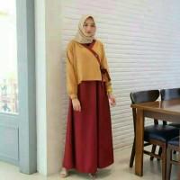 Hanura dress gamis moscrepe harga diskon fashion muslim gamis syari ha