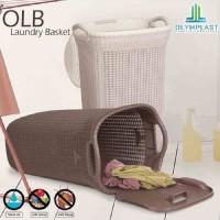 Laundry Basket Keranjang Pakaian Cucian motif Anyaman Olymplast OLB