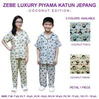 Kaze Zebe Luxury Piyama Katun Jepang Coconut Edition 7-12 Tahun
