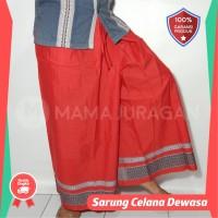 Sarung Celana Merah Polos Dewasa - Sarung Celana Koko