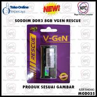 SODIMM DDR3 8GB PC-12800 1600MHz V-GeN Rescue RAM Laptop Vgen