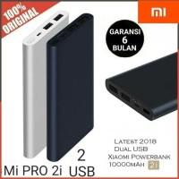 PowerBank Xiaomi Mi PRO 2i 10000mAh 2 USB Fast Charging power bank - Putih