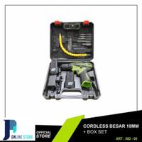 Bor Cordless Obeng electric portable Xenon CDD505 12v 2 Battery