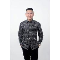 Kemeja Batik Pria Lengan Panjang Tribal
