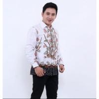 Kemeja Batik Pria Lengan Panjang Bambu