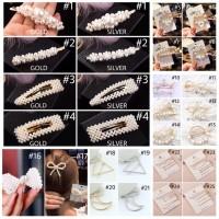 READY SIAP KIRIM Jepitan Mutiara Korean Pearl Hair Clip Jepitan Kekini