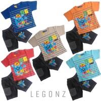 "Baju Kaos Atasan T-Shirt Setelan Murah Stelan Anak Laki ""86 NY City"" - Size 1, Orange"