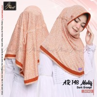 Hijab Instan Motif Serut Ar Rafi Bahan Berkualitas AR 148 M DOrange