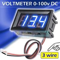 """3 wire Biru ~ DC Voltmeter 0-100v 0.56"""" Digital Frame Volt Meter 100v"""