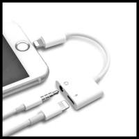 Super Murah Dual Connector Iphone 7 8 X Lightning Dan Jack 3.5Mm