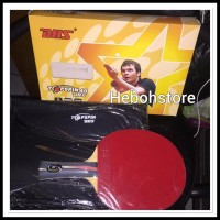 Promo Bat Bet Tenis Meja Ping Pong Dhs Top Spin 40 Bonu TM7