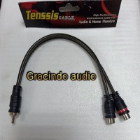Kabel RCA cabang Y Tenssis 1 Male - 2 Female