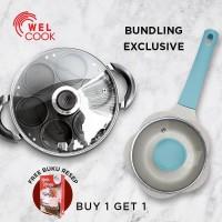 [Bundling] Welcook Cetakan Pancake Aluminium + Panci Bayi Light Blue
