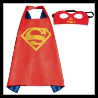 TERLARIS!! JUBAH SUPERHERO BATMAN SUPERMAN CAPTAIN AMERICA ANAK-ANAK +