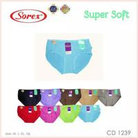 Celana dalam/CD SOREX super soft 1239 CD sorex satuan = QL /XXL polos