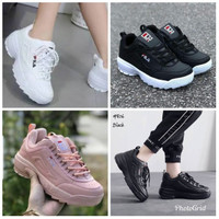 Sepatu Sneakers Wanita Fila Import Running Shoes Young Lifestyle