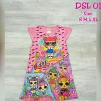 Dress Anak LOL LED ada lampu nyala Daster Anak Baju Terusan DSL-01