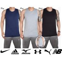 SPDX singlet kaos gym fitness pria olahraga nike adidas spandex