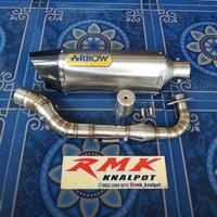 Knalpot Racing Motor NMAX Fullset Model Arrow Full Stenlist