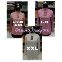 Manset Baju Kaos Rayon Dewasa / S, Allsize, XL, XXL / TURTLENECK