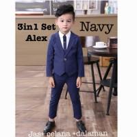 Baju Setelan Jas Pesta Anak Semi Kemeja Jas Tuxedo Anak Laki HSA013