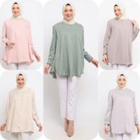 Baju Atasan Muslim Wanita Le Najwa Anan Tunik Pastel