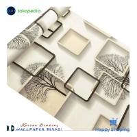 KD | Walpaper Dinding | Wallpaper Dinding 3D Cream | Stiker Kaca