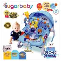 Sugar Baby 10 in 1 Bouncer Premium - Extra Large Seat Dudukan Bayi