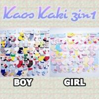Kaos Kaki Bayi Anak 3pcs 3in1 murah