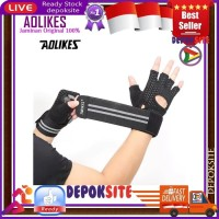 AOLIKES 113 Weightlifting Gloves Gym Half Finger Sports Fitness Gloves - L